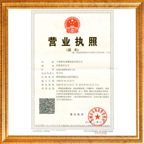 Shun Tian business license